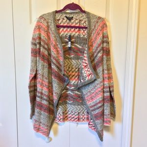 Lucky Brand Striped Cardigan Large